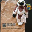 "NYC Bronx Zoo Wild Republic Wild Clingers 8"" Lemur Plush w/Magnetic hands & feet New w/Tag"