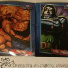 Marvel Heroes Sticker Card Set - Fantastic Four's The Thing & Dr. Doom