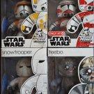 Star Wars Mighty Muggs Lot 2 Clone Commander Cody, Snowtrooper, Shock Trooper, Teebo