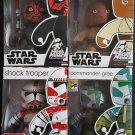 Star Wars Mighty Muggs Lot 5 Mace Windu, Commander Gree, Darth Maul, Shock Trooper