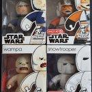 Star Wars Mighty Muggs Lot 6 Han Solo (Hoth), Biggs Darklighter, Snowtrooper, Wampa
