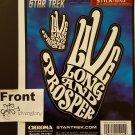 Stick-Onz Decal Star Trek Live Long and Prosper (Comic Con Box)