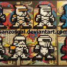 Star Wars 8-bit Troopers perler bead dangler/magnet/ornament
