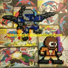 Star Wars 8-bit Attack of the Clones perler bead dangler/magnet/ornament