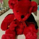 Stuffed Plush Pals Valentines Day Red Glitter Devil Teddy Bear NWT