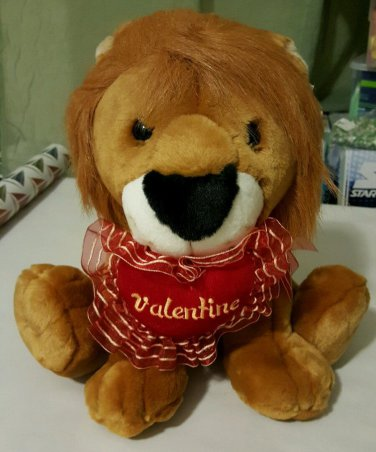 Stuffed Plush Valentines Day Lion NWT