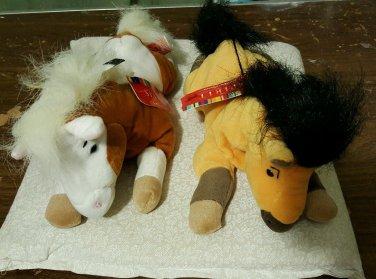 Spirit Stallion of the Cimarron plush mini bean bag set Spirit & Rain