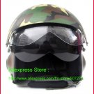 TK Chinese Military Air Force Jet Pilot Open Face Motorcycle Camouflage Helmet & Visor Free