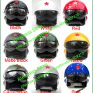 New Arrived ! TK Chinese Military Air Force Jet Pilot Open Face Motorcycle Helmet & Visor M L XL XXL