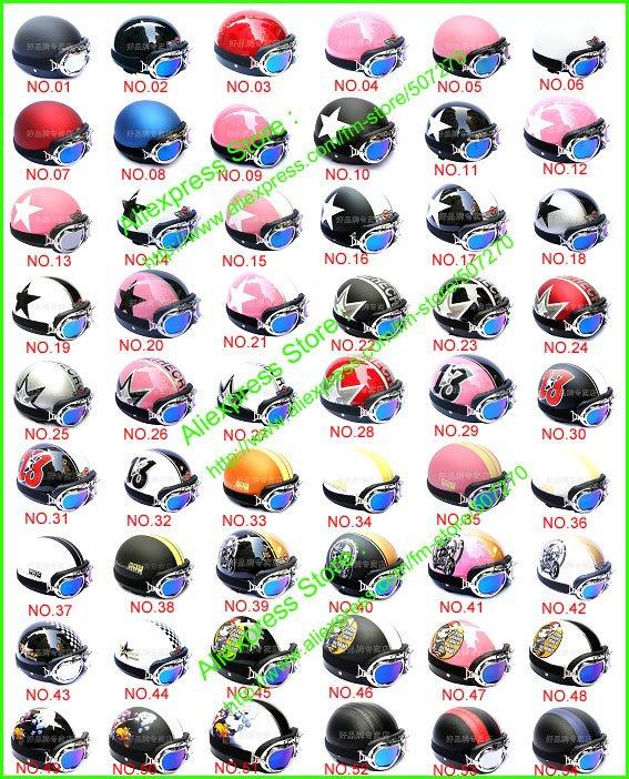 HOT SELL ! Casco Half Bol Vespa Cycling Open Face Motorcycle Helmet & Goggles SIZE M , L , XL