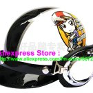 P.05 ABS Half Bol Cycling Open Face Motorcycle White # Motor Girl Helmet Casco Casque & Goggles