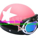 P.07 ABS Half Bol Cycling Open Face Motorcycle Matt Pink # White Star Helmet Casco Casque & Goggles