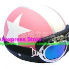 P.10 ABS Half Bol Cycling Open Face Motorcycle Matt Pink # White Star Helmet Casco Casque & Goggles