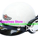 P.13 ABS Half Bol Cycling Open Face Motorcycle White Helmet Casco Casque & Goggles
