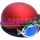 P.15 ABS Half Bol Cycling Open Face Motorcycle Matt Red Helmet Casco Casque & Goggles