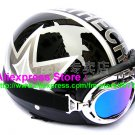 P.17 ABS Half Bol Cycling Open Face Motorcycle Black # character Helmet Casco Casque & Goggles