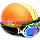 P.25 ABS Half Bol Cycling Open Face Motorcycle Matt Orange # Yellow Helmet Casco Casque & Goggles