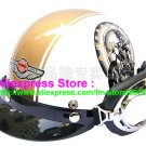 P.26 ABS Half Bol Cycling Open Face Motorcycle White # Motor pattern Helmet Casco Casque & Goggles