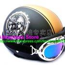 P.34 ABS Half Bol Cycling Open Face Motorcycle Matt Black # pattern Helmet Casco Casque & Goggles