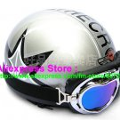 P.43 ABS Half Bol Cycling Open Face Motorcycle Silver # character Helmet Casco Casque & Goggles