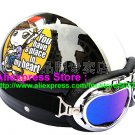 P.44 ABS Half Bol Cycling Open Face Motorcycle Black # Motor Girl Helmet Casco Casque & Goggles