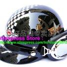 P.46 ABS Half Bol Cycling Open Face Motorcycle Black # Grid Helmet Casco Casque & Goggles