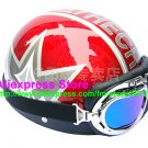 P.48 ABS Half Bol Cycling Open Face Motorcycle Red # character Helmet Casco Casque & Goggles