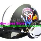 P.51 ABS Half Bol Cycling Open Face Motorcycle Matt Black # Motor Boy Helmet Casco Casque & Goggles