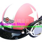 P.58 ABS Half Bol Cycling Open Face Motorcycle Matt Pink # White Star Helmet Casco Casque & Goggles