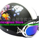 P.63 ABS Half Bol Cycling Open Face Motorcycle Matt Black # Motor Boy Helmet Casco Casque & Goggles