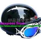 P.67 ABS Half Bol Cycling Open Face Motorcycle Full Black Helmet Casco Casque & Goggles