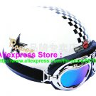 P.70 ABS Half Bol Cycling Open Face Motorcycle White # Grid Helmet Casco Casque & Goggles