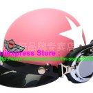 P.71 ABS Half Bol Cycling Open Face Motorcycle Matt Pink # White Star Helmet Casco Casque & Goggles