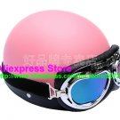 P.73 ABS Half Bol Cycling Open Face Motorcycle Full Pink Helmet Casco Casque & Goggles