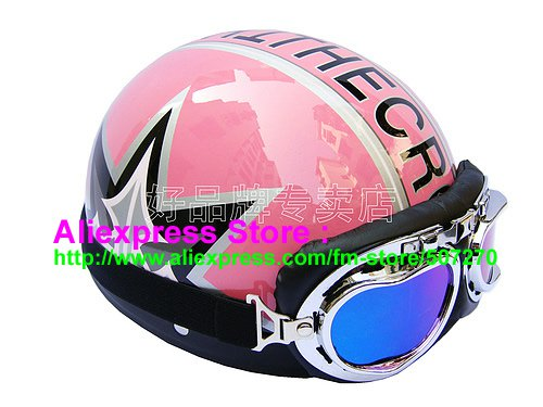 P.77 ABS Half Bol Cycling Open Face Motorcycle Pink # character Helmet Casco Casque & Goggles