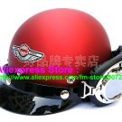 P.80 ABS Half Bol Cycling Open Face Motorcycle Matt Red Helmet Casco Casque & Goggles