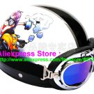 P.81 ABS Half Bol Cycling Open Face Motorcycle White # Motor Boy Helmet Casco Casque & Goggles
