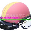 P.91 ABS Half Bol Cycling Open Face Motorcycle Matt Pink # Yellow Helmet Casco Casque & Goggles