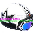P.94 ABS Half Bol Cycling Open Face Motorcycle White # character Helmet Casco Casque & Goggles