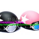 A.01- 2 Unit ABS Half Bol Vespa Cycling Open Face Motorcycle Matt Black + Pink Helmets & Goggles