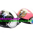 A.07- 2 Unit ABS Half Bol Vespa Cycling Open Face Motorcycle Black + Pink Helmets & Goggles