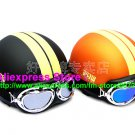 A.13- 2 Unit ABS Half Bol Vespa Cycling Open Face Motorcycle Matt Black + Orange Helmets & Goggles