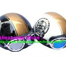 A.23- 2 Unit ABS Half Bol Vespa Cycling Open Face Motorcycle Black + White Helmets & Goggles