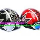 A.31- 2 Unit ABS Half Bol Vespa Cycling Open Face Motorcycle Matt Black + RedHelmets & Goggles
