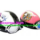 A.33- 2 Unit ABS Half Bol Vespa Cycling Open Face Motorcycle White + Pink Helmets & Goggles
