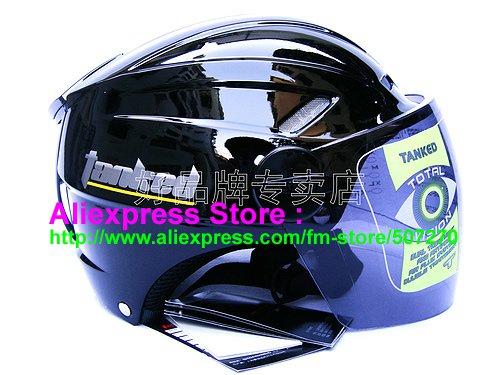 "New Germany ""Tanked 501"" Half Vespa Motorcycle Open Face Racing Cycling Black Helmet"