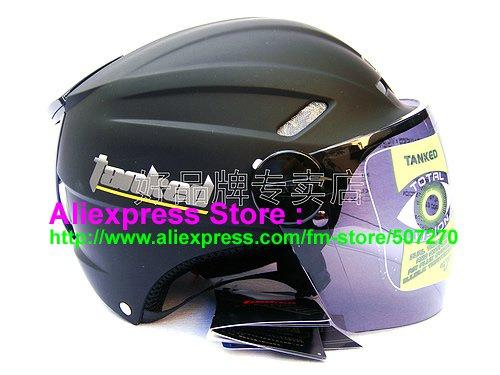 "New Germany ""Tanked 501"" Half Vespa Motorcycle Open Face Racing Cycling Matt Black Helmet"