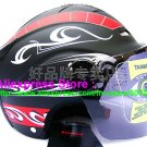 "New Germany ""Tanked 502"" Half Vespa Motorcycle Open Face Racing Cycling Matt Black Helmet"