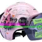 "New Germany ""Tanked 502"" Half Vespa Motorcycle Open Face Racing Cycling Pink Helmet"