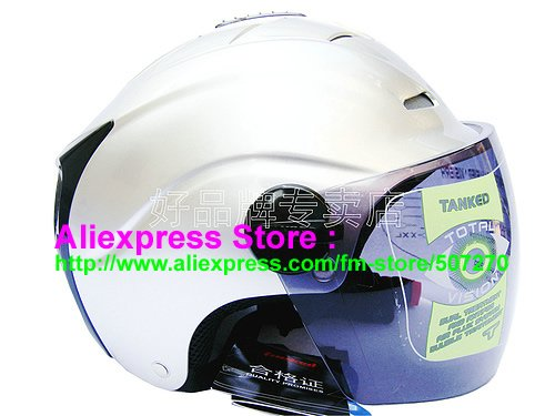 """New Germany """"Tanked 502"""" Half Vespa Motorcycle Open Face Racing Cycling Silver Helmet"""